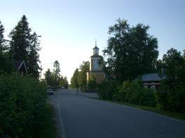 Kyrkan anno 1861 på Stenbacken